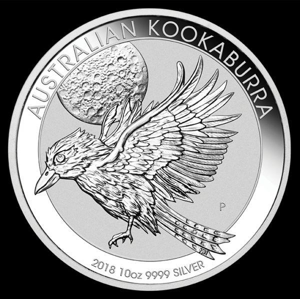 Silbermünze Australian Kookaburra 2018 10 Unzen Silber 10oz