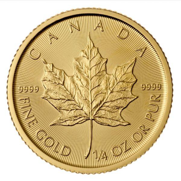 1/4 Oz Maple Leaf Canada Gold 999,9 Goldmünze 2017