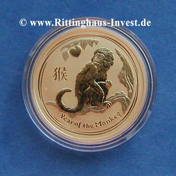 Goldmünze Lunar II Affe 1/20 oz Jahr des Affen 2016 Gold zwanzigstel Unze
