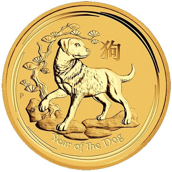 Lunar Hund Goldmünze 1oz 2018 1 Unze