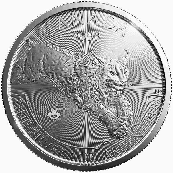 1Oz Silber Kanada Predator Serie Luchs 2017 5$ 9999 Silbermünze