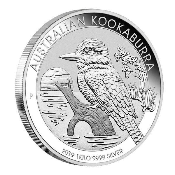 Australian Kookaburra 2019 1kg Silbermünze 1 Kilo Silber silver coin the Perth Mint edge
