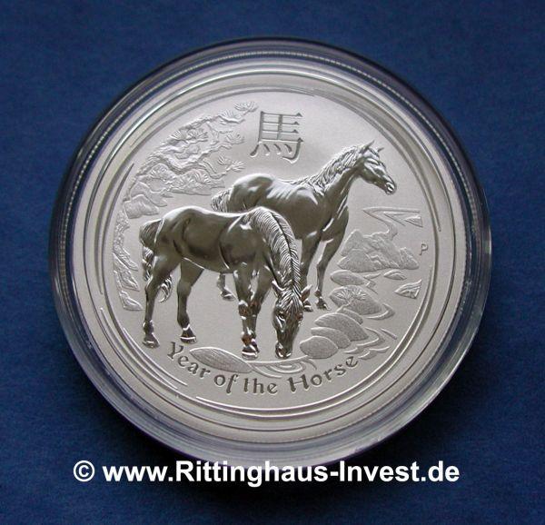 Lunar II Pferd 2014 Australien Silbermünze year of the horse 2014 silver coin the perth mint australia