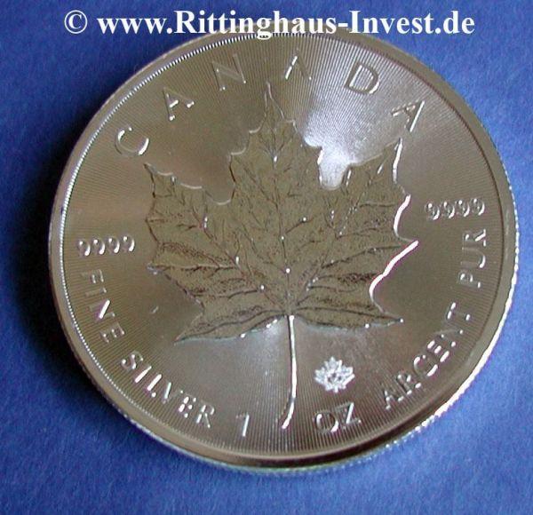 Maple Leaf 2015 Silbermünze silver coin  silber 9999 canada