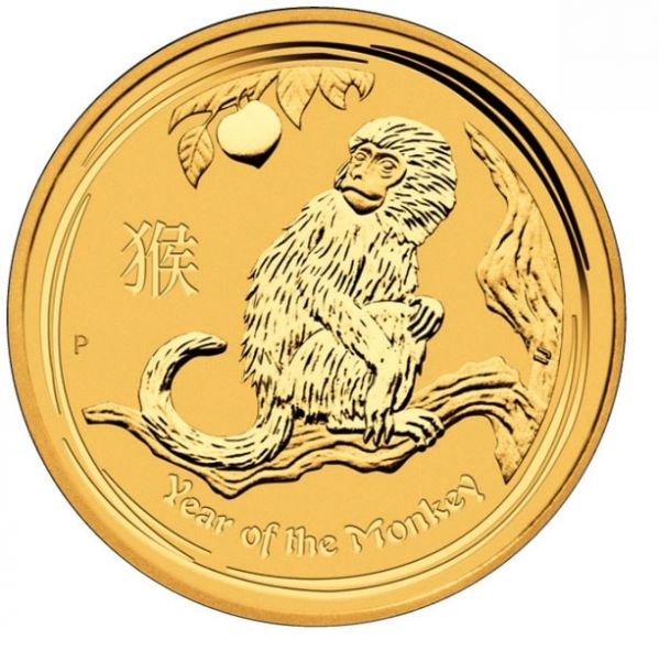 Goldmünze Lunar II Affe 2016 Monkey 1/10 Oz zehntel Unze Gold 99,99