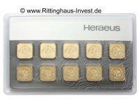 Multicard 10 Gramm Goldbarren 10 x 1 g Gold