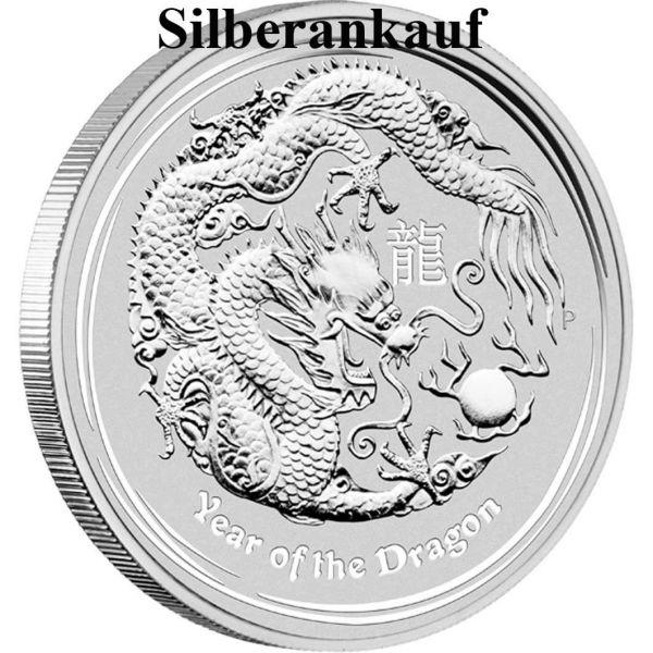 Silbermünze Ankauf Lunar II Jahr des Drache 2012 1 Oz Silber Ankauf