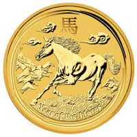 Lunar II Pferd 1 Unze Gold 1oz year of the horse Goldmünze Gold Perth Mint Australia 2014