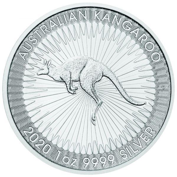 2020 Kangaroo Känguru 1oz Silbermünze Perth Mint Silber silver coin