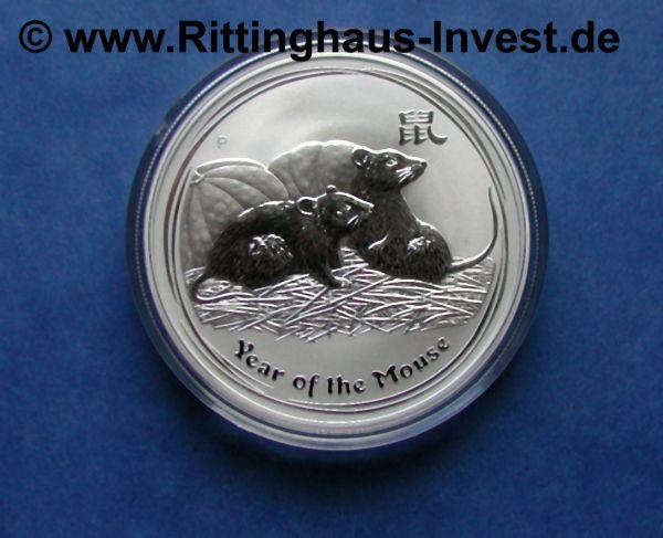 Lunar Ii Maus Mouse 1oz Silberm 252 Nze 2008 Perth Mint Australia