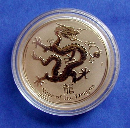 lunar II perth mint dragon gold goldmünze 1oz 1 unze year of the dragon 2012