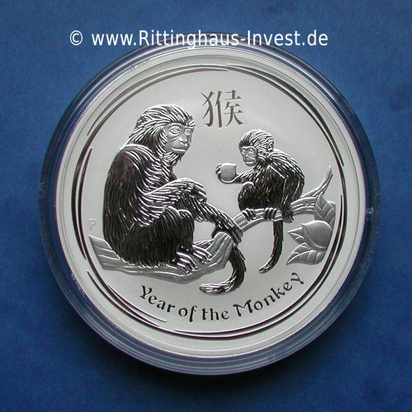 Lunar II Affe 1kg Silbermünze Jahr des Affen 2016 999 Silber