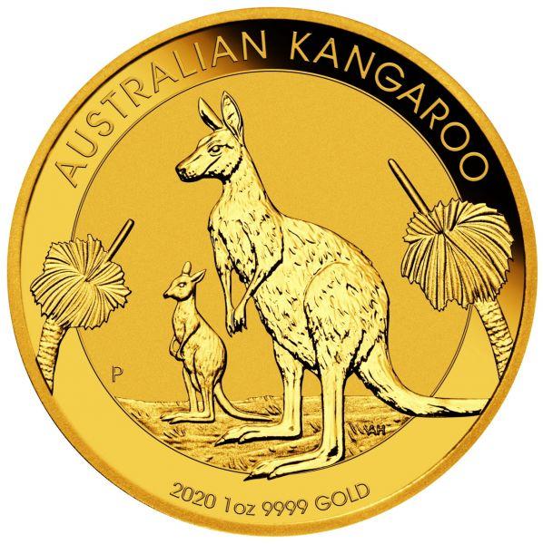 2020 Australian Kangaroo 1oz Unze Gold Goldmünze gold coin Känguru Nugget
