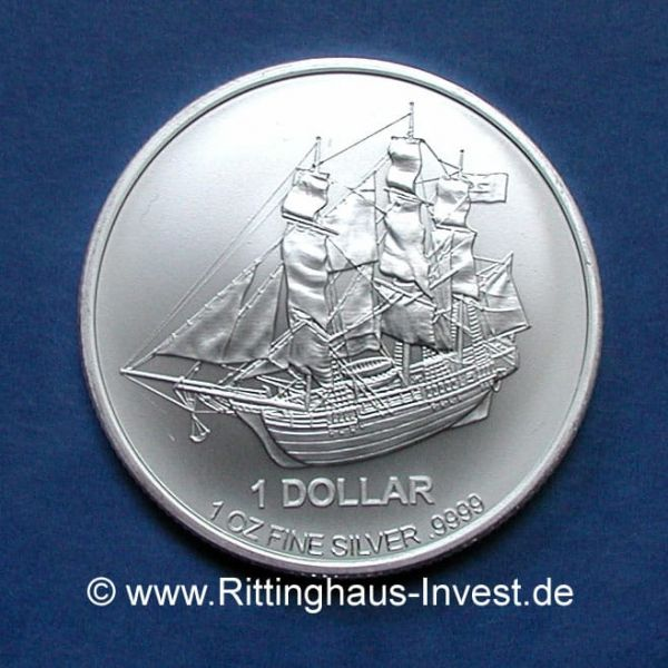 Cook Islands 1 Oz Silver Coin Bounty 2015