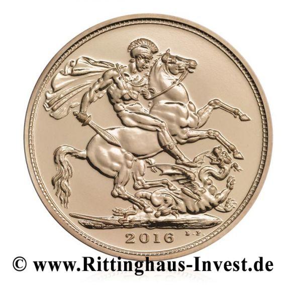 Sovereign 2016 Goldmünze Gold