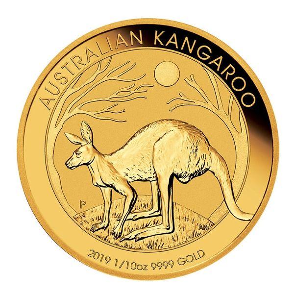 Australian Kangaroo 2019 Känguru zehntel Unze Gold 1/10oz Goldmünze Gold coin