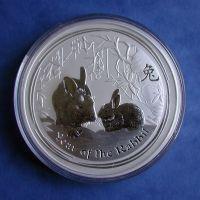 Lunar II Hase 10 Oz Silbermünze 2011 rabbit 10 Unzen Silber