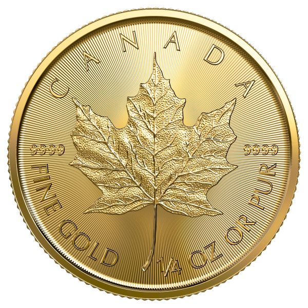 Goldmünze Maple Leaf 0.25oz 10 Dollars 2017 1/4 oz Gold viertel Unze