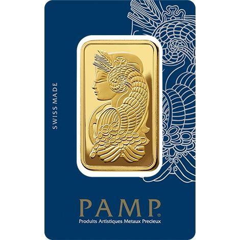 100g Goldbarren Pamp Suisse Fortuna gold bar Blister
