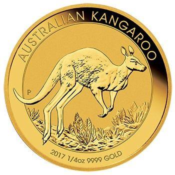 Viertel Unze Goldmünze Australisches Känguru Australian Kangaroo 2017 1/4Oz 9999