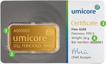 Umicore-Goldbarren-20g-Feingold