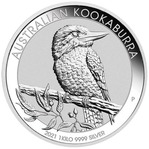 Australian Kookaburra 2021 1kg Silbermünze 1 Kilo Silber silver coin the Perth Mint