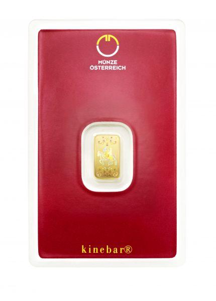 Lipizzaner Goldbarren 1 Gram Münze Österreich Kinebarren Kinebar