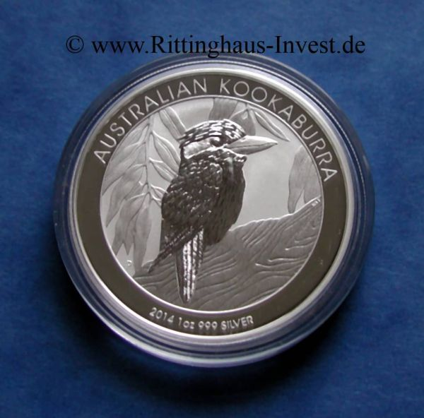 Silver Coin Australian Kookaburra 2014 1oz Perth Mint