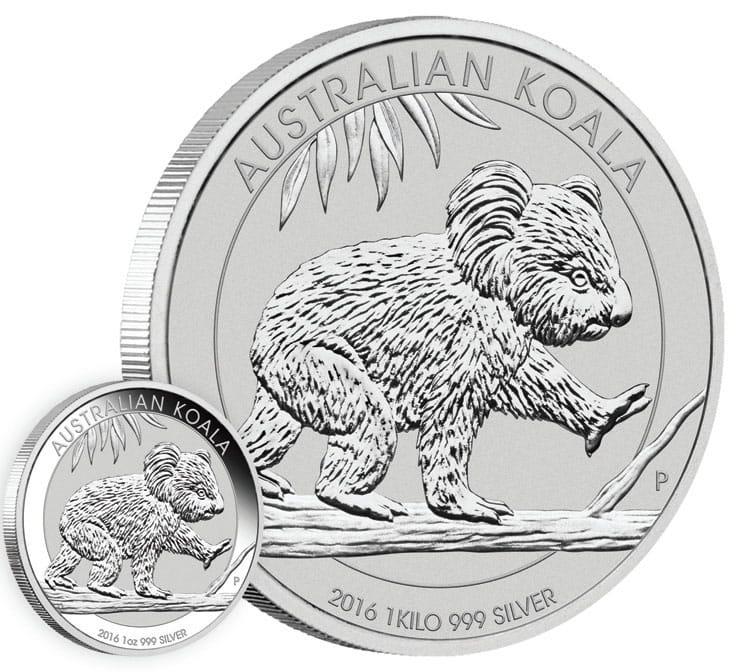 1 Kilo Silver Bullion Coin Australian Koala 2016 1 Kg Fine