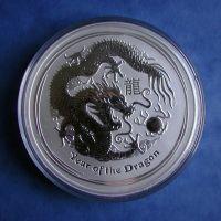 Lunar II Drache 10 Oz Silbermünze 2012 10 Unzen Silber