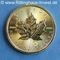 1 Oz Maple Leaf Goldmünze Gold Unze Kanada 9999 2016