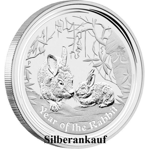 Silbermünze Ankauf Lunar II Jahr des Hase 2011 1 Oz Silber Ankauf