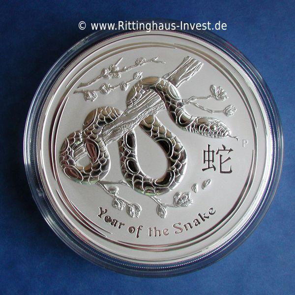 Lunar II Schlange 2013 1Kilo Silbermünze 1000 Gramm snake