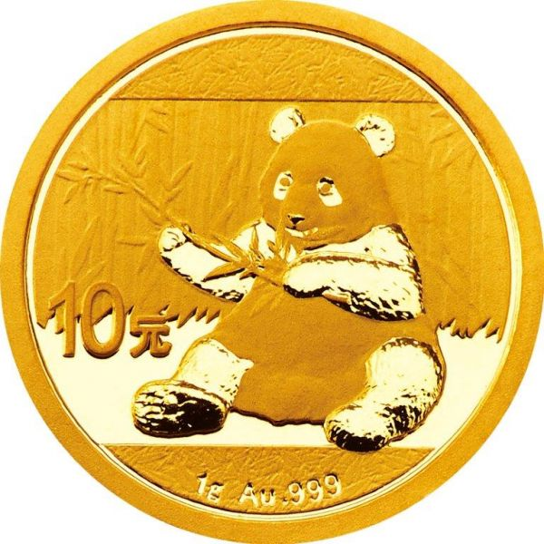 China Panda 2017 1 Gramm Goldmünze 2017 999 Gold