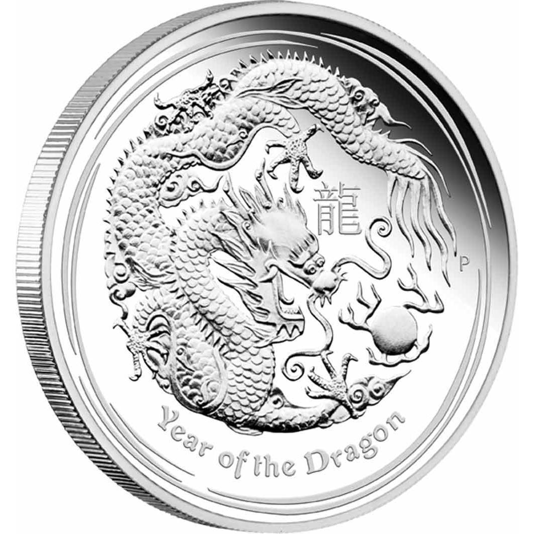 Silberm 252 Nze 3 Coin Set Lunar Ii Drache 2012 Proof Polierte