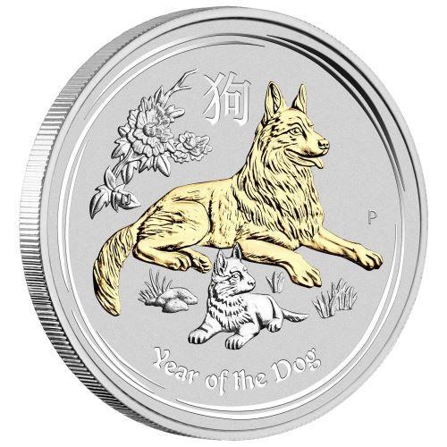 Silberm 252 Nze Lunar Ii Hund 2018 Gilded Kaufen Vergoldet Hund