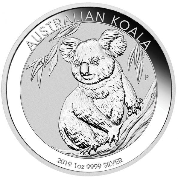Silbermünze Australian Koala 2019 1 Unze 1 Oz 9999 Silber