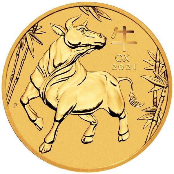 Lunar III Ochse 2021 zehntel Unze gold Goldmünze Jahr des Ochsen 1/10oz