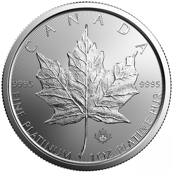 Maple Leaf 2019 Platinmünze 1oz 9995 Platinum Unze $50
