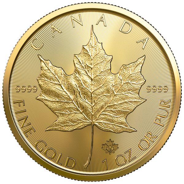 Maple Leaf 2019 1 Unze 9999 Feingold Royal Canadian Mint 1oz Goldmünze