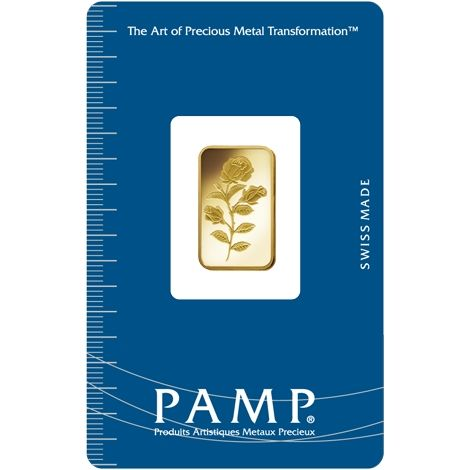 Pamp Suisse Goldbarren 5g Rose gold bar Rosa blister