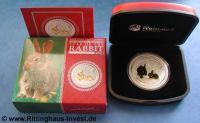 Lunar 2 Hase vergoldet gilded rabbit Perth Mint Australia Australien
