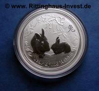 Lunar 2 II Hase 1Oz Silbermünze 2011 year of the Rabbit the perth mint australia