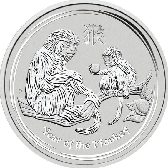 Silberm 252 Nze Lunar Ii Affe 1 Oz Monkey 2016 Silver