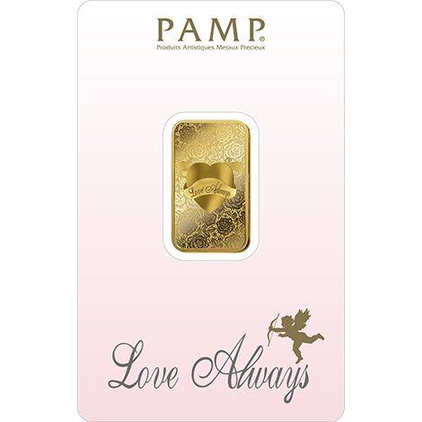 Pamp Suisse Love Always 10g Goldbarren Gold bar Blister