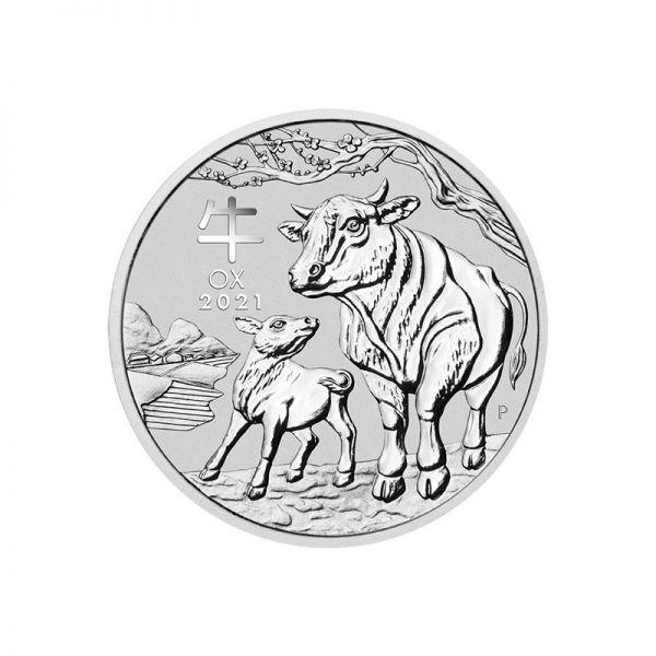 Silbermünze Lunar III Ochse 1 Unze Jahr des Ochsen 2021 Silber 1 oz