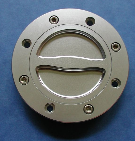 CNC gefräster Tankdeckel GSX-R 1100 fuel cap gas cap silber milled billet