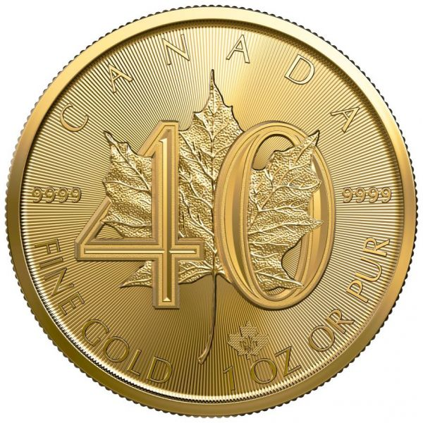 40 Jahre Gold Maple Leaf 1979 - 2019 1oz Goldmünze coin GML