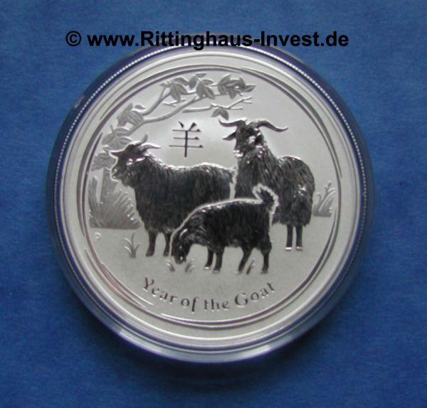 Lunar II Ziege 2015 10 Oz Silbermünze Goat