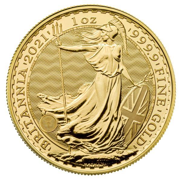 2021 Britannia Unze Gold 1oz 100 Pounds new Design